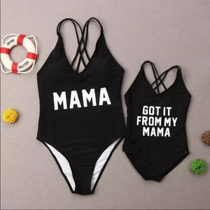 boutique Swim - mama one piece swim suit